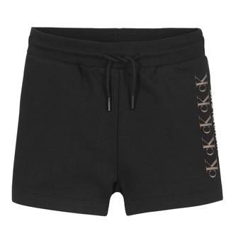 textil Pige Shorts Calvin Klein Jeans CK REPEAT FOIL KNIT SHORTS Sort