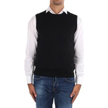 textil Herre Veste / Cardigans La Fileria 14290 55168 Black