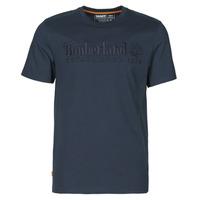 textil Herre T-shirts m. korte ærmer Timberland SS OUTDOOR HERITAGE LINEAR LOGO TEE REGULAR Marineblå
