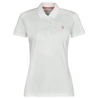 textil Dame Polo-t-shirts m. korte ærmer U.S Polo Assn. LOGO POLO SS Hvid