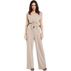 textil Dame Buksedragter / Overalls Gaudi 011FD24001 Beige
