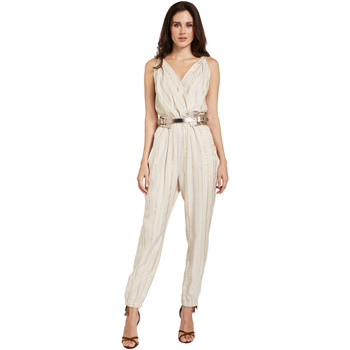 textil Dame Buksedragter / Overalls Gaudi 011FD25028 Beige