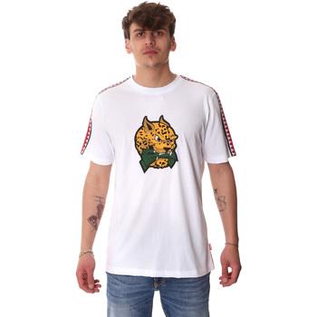 textil Herre T-shirts m. korte ærmer Sprayground 20SP032WHT hvid