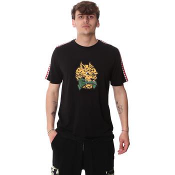 textil Herre T-shirts m. korte ærmer Sprayground 20SP032BLK Sort