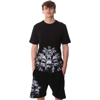 textil Herre T-shirts m. korte ærmer Sprayground 20SP012 Sort