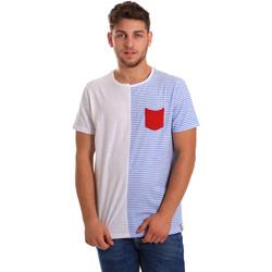 textil Herre T-shirts m. korte ærmer Gaudi 811FU64046 hvid