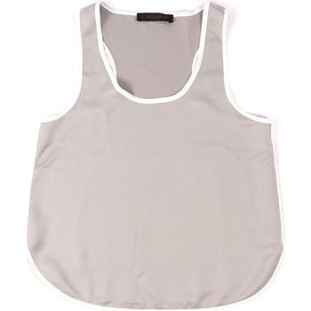textil Dame Toppe / T-shirts uden ærmer Café Noir JT002 Grå