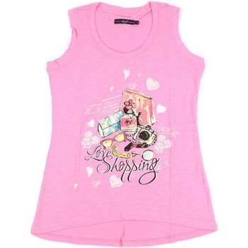 textil Dame Toppe / T-shirts uden ærmer Key Up S88Z 0001 Lyserød
