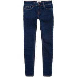 textil Dame Smalle jeans Superdry G70001VPF4 Blå