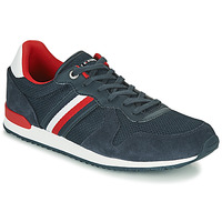 Sko Herre Lave sneakers Tommy Hilfiger ICONIC MATERIAL MIX RUNNER Marineblå