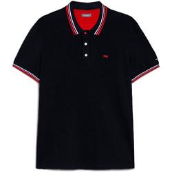 textil Herre Polo-t-shirts m. korte ærmer Nero Giardini E072390U Blå