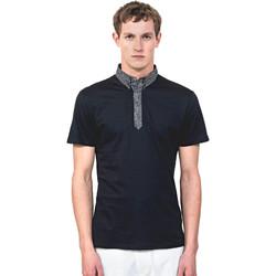 textil Herre Polo-t-shirts m. korte ærmer Antony Morato MMKS01489 FA100084 Blå