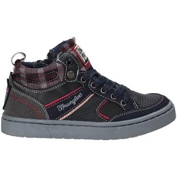 Sko Børn Høje sneakers Wrangler WJ17225 Blå