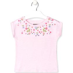 textil Børn T-shirts m. korte ærmer Losan 016-1003AL Lyserød
