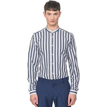 textil Herre Skjorter m. lange ærmer Antony Morato MMSL00604 FA420096 Blå