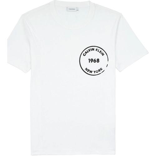 textil Herre T-shirts m. korte ærmer Calvin Klein Jeans K10K104509 hvid