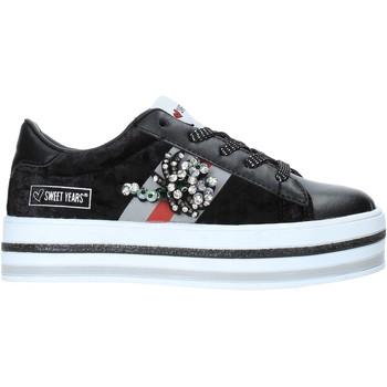 Sko Børn Lave sneakers Sweet Years W19-SSK313 Sort