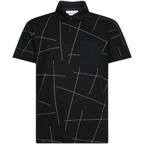 textil Herre Polo-t-shirts m. korte ærmer Calvin Klein Jeans K10K105189 Sort