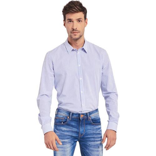 textil Herre Skjorter m. lange ærmer Gaudi 011BU45032 Blå