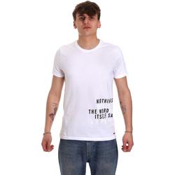 textil Herre T-shirts m. korte ærmer Gaudi 011BU64071 hvid
