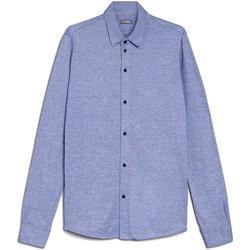 textil Herre Skjorter m. lange ærmer Nero Giardini E072300U Blå