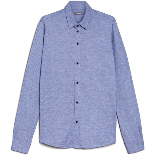 textil Herre Skjorter m. lange ærmer NeroGiardini E072300U Blå