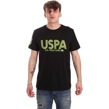 textil Herre T-shirts m. korte ærmer U.S Polo Assn. 57197 49351 Sort