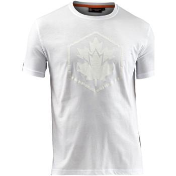 textil Herre T-shirts m. korte ærmer Lumberjack CM60343 005 514 hvid