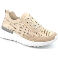 Sko Dame Lave sneakers Grunland SC4906 Beige