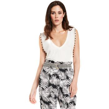 textil Dame Toppe / Bluser Gaudi 011FD64008 hvid