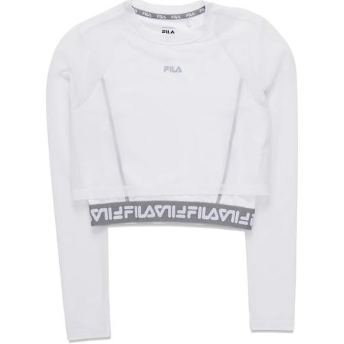 textil Dame Langærmede T-shirts Fila 687720 hvid