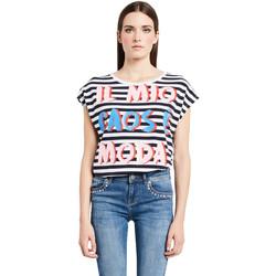 textil Dame T-shirts m. korte ærmer Denny Rose 011ND64017 hvid