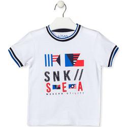 textil Børn T-shirts m. korte ærmer Losan 015-1000AL hvid