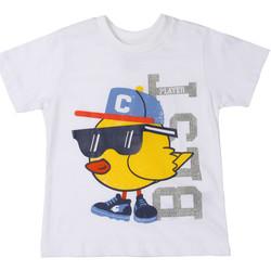 textil Børn T-shirts m. korte ærmer Chicco 09006918000000 hvid