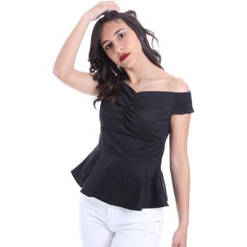 textil Dame Toppe / Bluser Gaudi 011FD45054 Sort