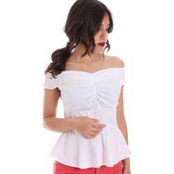 textil Dame Toppe / Bluser Gaudi 011FD45054 hvid