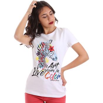 textil Dame T-shirts m. korte ærmer Gaudi 011BD64003 hvid