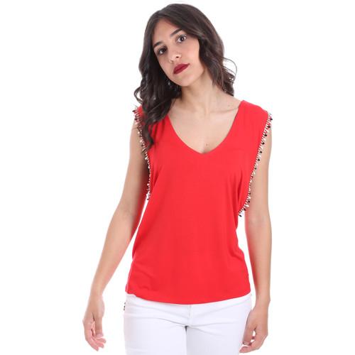 textil Dame Toppe / Bluser Gaudi 011FD64008 Rød