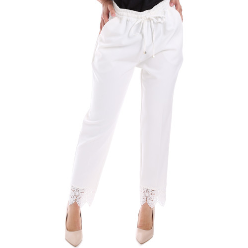 textil Dame Chinos / Gulerodsbukser Gaudi 011FD25011 hvid