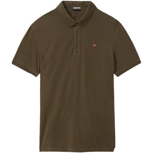 textil Herre Polo-t-shirts m. korte ærmer Napapijri NP0A4E2M Grøn