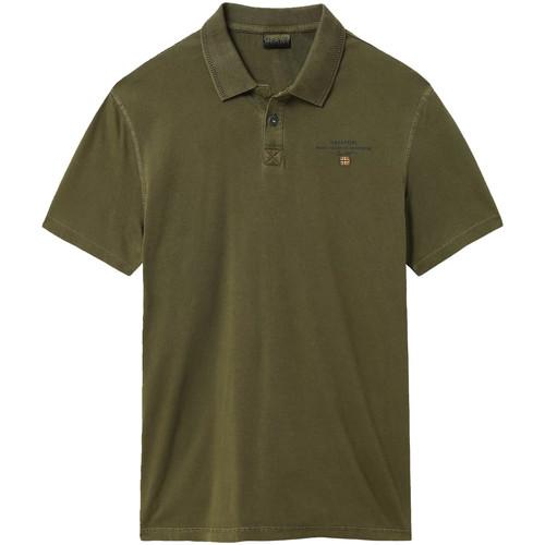 textil Herre Polo-t-shirts m. korte ærmer Napapijri NP0A4E2L Grøn