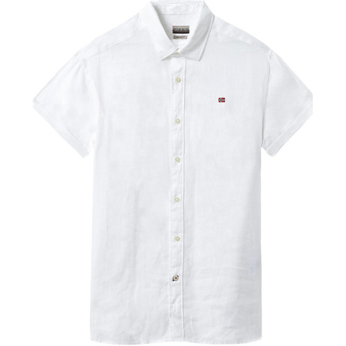 textil Herre Skjorter m. korte ærmer Napapijri NP000IF1 hvid