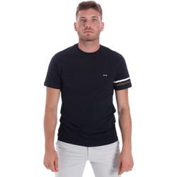 textil Herre T-shirts m. korte ærmer Les Copains 9U9014 Blå