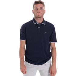 textil Herre Polo-t-shirts m. korte ærmer Les Copains 9U9020 Blå