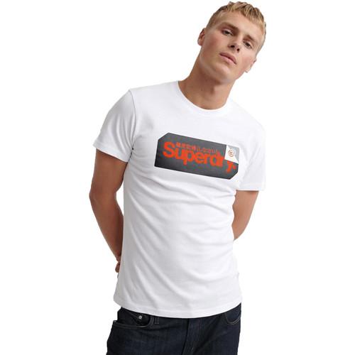 textil Herre T-shirts m. korte ærmer Superdry M1000072A hvid