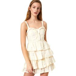 textil Dame Korte kjoler Liu Jo FA0312 T4190 hvid