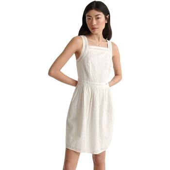 textil Dame Korte kjoler Superdry W8010090A hvid