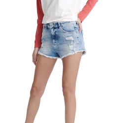 textil Dame Shorts Superdry W7110015A Blå
