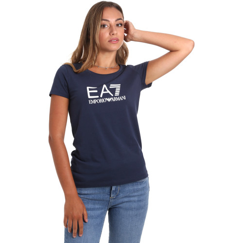 textil Dame T-shirts m. korte ærmer Emporio Armani EA7 8NTT63 TJ12Z Blå