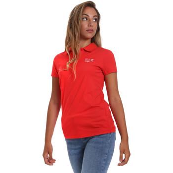 textil Dame Polo-t-shirts m. korte ærmer Ea7 Emporio Armani 3HTF57 TJ29Z Rød